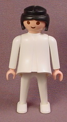 Playmobil Adult Female Classic Style Doctor Or Surgeon Figure With Black Page Boy Hair