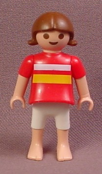 Playmobil Female Girl Child Figure With A Dark Pink Shirt