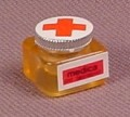 Playmobil Transparent Yellow Medicine Bottle with Red Cross on Silver Lid, 3224 3459 3981