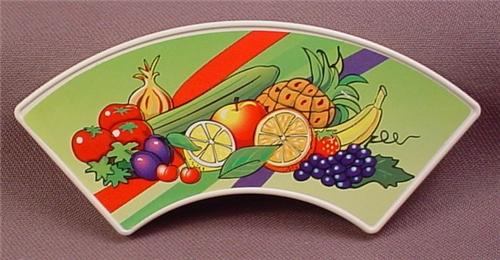 Playmobil White Arched Sign With A Fruits & Vegetables Sticker, 3200, The Sign Is 30 23 1170