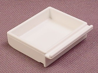 Playmobil White Shallow Drawer To Slide Into A Cupboard, 3224 3456X 3459 3925 3981 7592 7682