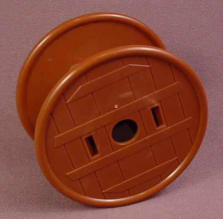 Playmobil Dark Brown Large Wood Spool, 2 1/2 Inches Across, Wooden, Construction, 3205X 3400 3472