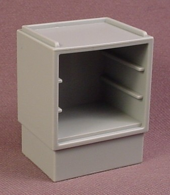 Playmobil Gray Cupboard with Slots for 3 Drawers, 3459, Grey
