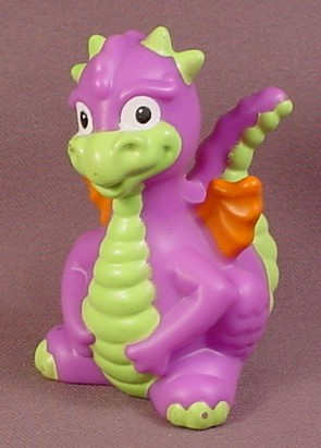 Fisher Price Little People 2009 Purple Dragon with Orange Wings & Green Tail, W1519 - RONS ...