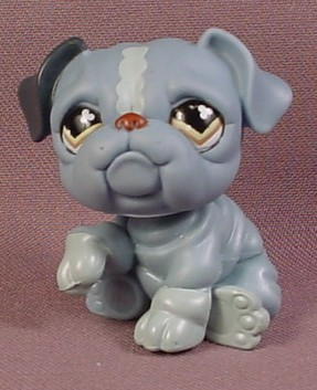 littlest pet shop bulldog littlest pet shop 668 blue gray english bulldog puppy dog 507