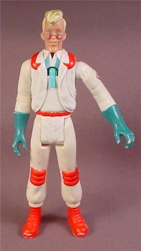 Real Ghostbusters Soar Throat Egon Spengler Action Figure, 1989 Kenner, Fright Features Series