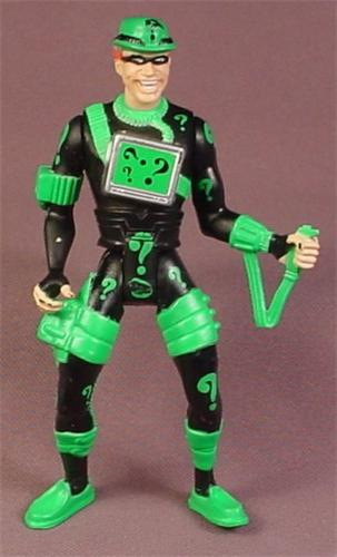 Batman Drain Brain Riddler Action Figure With Question Marks On Chest Plate, 1993 Kenner
