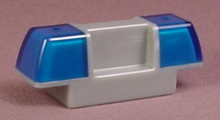 Lego Duplo 2318 Gray & Transparent Blue Police Lights For The Roof Of A Vehicle, 4681 4691 4861