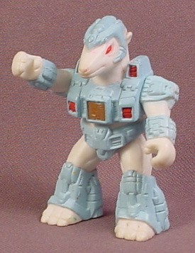 Battle Beasts #48 Pillaging Polar Bear, PVC Figure, 1987 Hasbro Takara