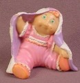 Cabbage Patch Kids Mini PVC Figure, Baby In Pink Clothes With A Purple & White Blanket