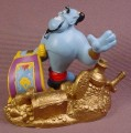 Disney Aladdin Genie With Carpet & Lots of Treasure PVC Figure, Disney Store Lil Classics