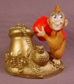 Disney Aladdin Abu The Monkey With Giant Gem & Lots of Treasure PVC Figure, Disney Store