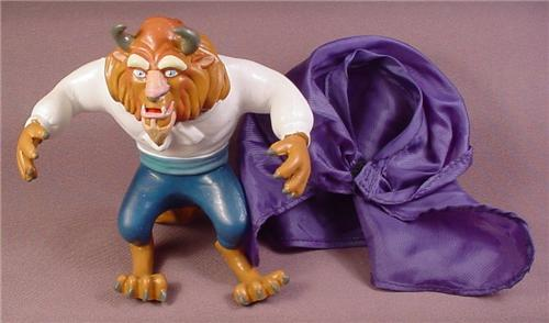 Disney Beauty & The Beast Rubbery Beast Figure With Cloth Cape, Bendy Arms & Tail, 5 Inches