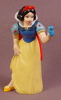 Disney Snow White Talking To A Bird PVC Figure, 3 Inches Tall, Figurine