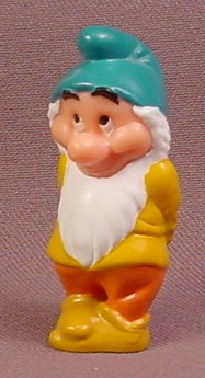 Disney Snow White Bashful Dwarf With Hands Behind Back PVC Figure, 2 1/8 Inches Tall