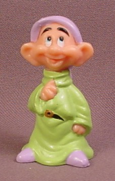 Disney Snow White Dopey With Eyes Looking Up PVC Figure, 2 1/8 Inches Tall