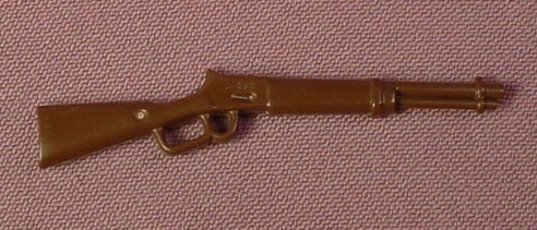 Playmobil Dark Brown Winchester Style Lever Action Western Rifle 3748 3811  4552 3878 3802 3785 3803