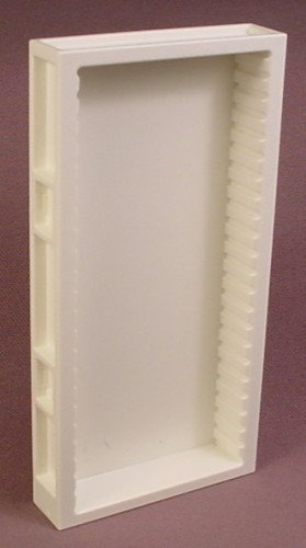 Playmobil White Wall Section With Shallow Cabinet, Slots For Slide In  Shelves, System X