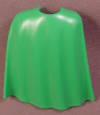 Playmobil Green 3/4 Length Flowing Cloak Or Cape, 3668 5783, 30 07 8730