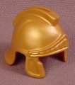 Playmobil Gold Roman Style Helmet With Cheek Guards & Slit In The Top, 4270 4272 4273