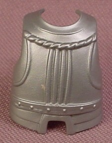 Playmobil Silver Gray Fat Size Breastplate Armor, 3030 3123 3287 3887 3891 4177 4441