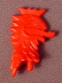 Playmobil Red Griffon Shaped Crest Or Plume Ornament For The Top Of A Helmet, 3123 3887