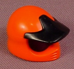 Playmobil Orange Motorcycle Helmet With Attached Black Visor, 4182