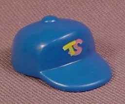 Playmobil Blue Squared Baseball Style Cap Or Hat With TS Logo, 3708, 30 64 3240