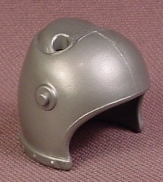 Playmobil Silver Gray Medieval Helmet With Visor Pegs & 2 Holes For Feathers, 3030 3269