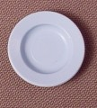 Playmobil Light Blue Round Plate Or Dish, 7/8 Inch Across, 5326 5335, Victorian, 30 04 3190