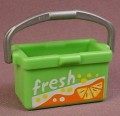 Playmobil Green Rectangular Cooler Box With Handle, Logos Printed On Front & Back, 3236