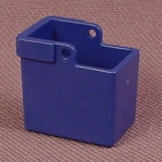 Playmobil Blue Recycling Box With Hinge Points For A Handle, 3968 4374 5870, 30 22 0720