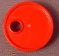 Playmobil Red Barrel Cover Or Lid With Hole, 3003 3277 4085 4314 4414 4420, Fuel Drum