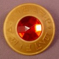 Playmobil Gold Plate Or Shield With Red Jewel In The Center & Magic Rune Marks, 4835 5890