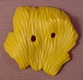 Playmobil Mustard Yellow Pile Of Hay Or Straw With 2 Holes For Pitchfork Tines, 4013 4155