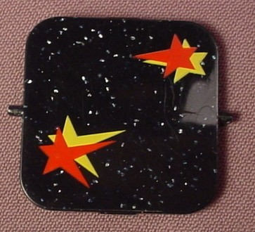 Playmobil Black Top Of Magician's Box With 2 Pivot Points, Glitter & Shooting Stars Sticker Applied