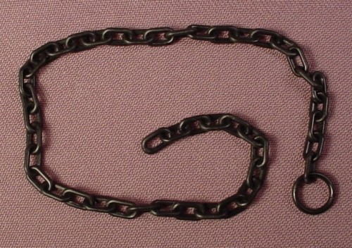 Playmobil Black Plastic Chain With Loop Or Ring On One End, 9 1/4 Inches Long, 4440 5803