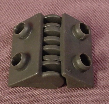 Playmobil Dark Gray Complete Hinge For A Take Along Building Set, Both Parts, 4440 5803