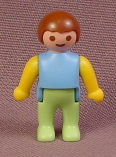 Playmobil Baby Figure With Blue Top Light Green Legs