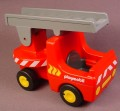 Playmobil 123 Red Fire Engine Truck With Swiveling Ladder That Moves Up Or Down, 6715