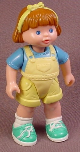 Fisher Price Dream Dollhouse 1993 Girl Daughter Figure Brown Hair