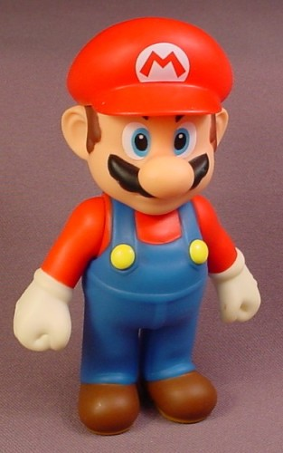Nintendo Super Mario Brothers Mario Figure, 5 Inches Tall, Arms Move, Action Figure, 2008