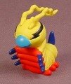 Digimon Kunemon PVC Figure, 1 1/2 Inches Tall, 2000 Bandai