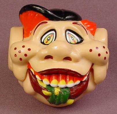 Oddzon Candy Dispenser Freckle Face Boy Chewing Something Gross, Spring Loaded Jaw