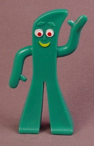 Gumby Mini Figure Bendy, Does Not Have A Wire Inside, 2 3/4 Inches Tall, Jesco