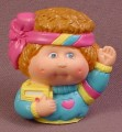 Cabbage Patch Kids Pencil Topper Figure, Blue Shirt With Pink Heart, Soft Vinyl Or Rubber