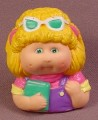 Cabbage Patch Kids Pencil Topper Figure, Green Sunglasses, Holding A Book, Soft Vinyl