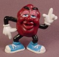 California Raisins Justin X Grape PVC Figure With A Magnet In The Back, 2 1/4 Inches Tall, 1988