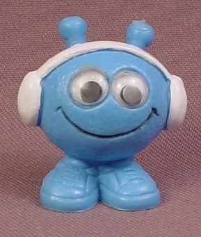 Astrosniks Blue Marsmen Snik PVC Figure With Walkman, 1 1/2 Inches Tall, 1983 Schaper