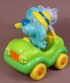 Blue's Clues Green Car with Periwinkle Cat & Removable Blue PVC Figure, Blue Is Wearing